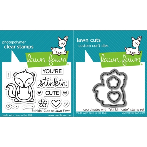Lawn Fawn SET LF16SETSTC STINKIN' CUTE Clear Stamps and Dies Preview Image