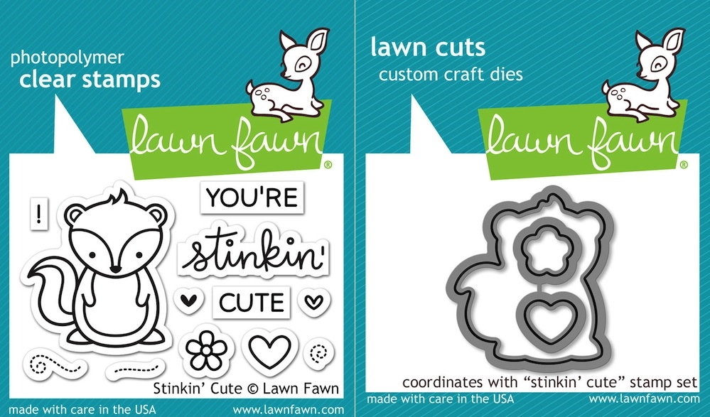 Lawn Fawn SET LF16SETSTC STINKIN' CUTE Clear Stamps and Dies zoom image