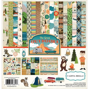 Carta Bella THE GREAT OUTDOORS 12 x 12 Collection Kit CBGO55016