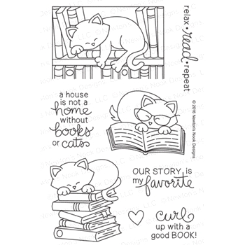 Newton's Nook Designs NEWTON'S BOOK CLUB Clear Stamp Set 20160503