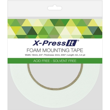 Copic X-Press It Double Sided FOAM 0.75 Inch Mounting TAPE FT18