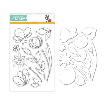 Simon Says Stamps And Dies FLORAL SHAPES Set259FS