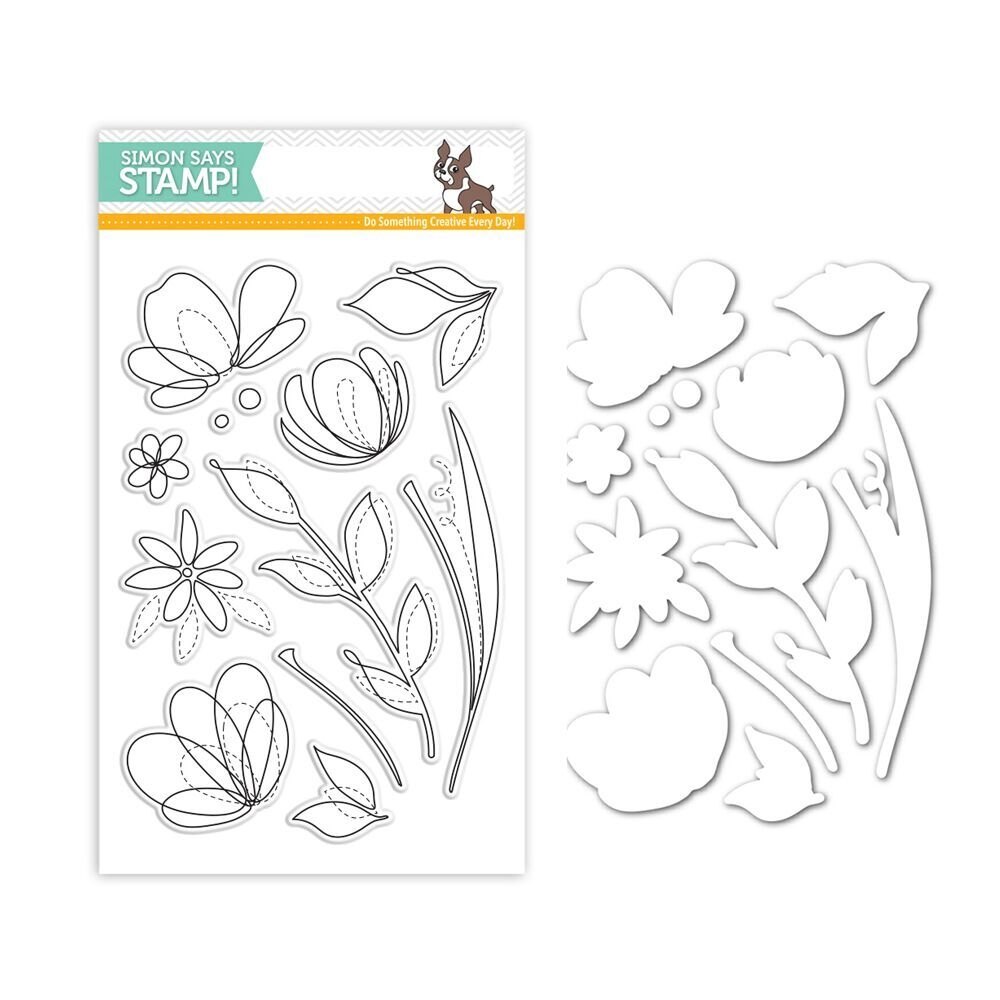 Simon Says Stamps And Dies FLORAL SHAPES Set259FS zoom image