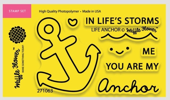 Waffle Flower LIFE ANCHOR Clear Stamp Set 271063 zoom image