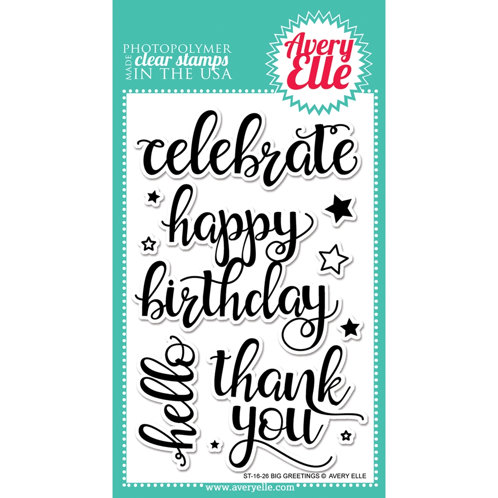 Avery Elle Clear Stamp BIG GREETINGS Set ST-16-26 zoom image