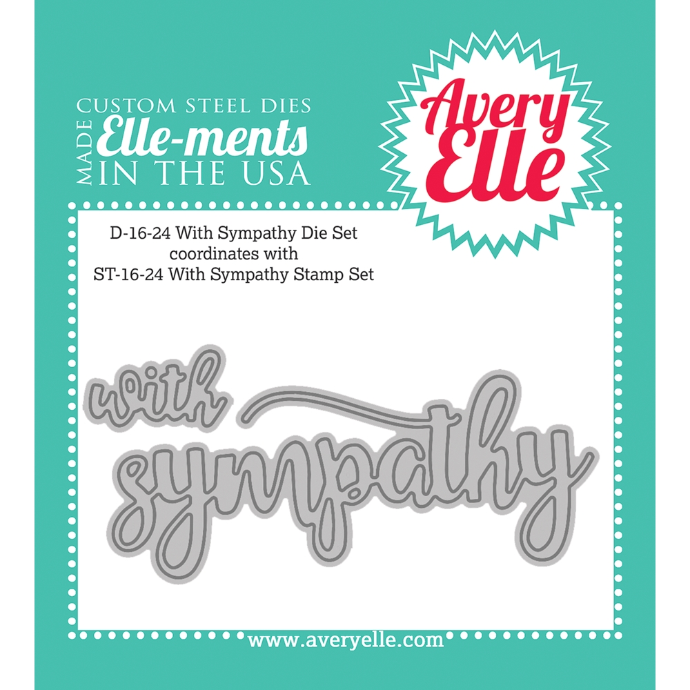 Avery Elle Steel Die WITH SYMPATHY Set D-16-24 zoom image