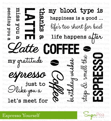 SugarPea Designs ESPRESSO YOURSELF Clear Stamp Set SPD00029 zoom image