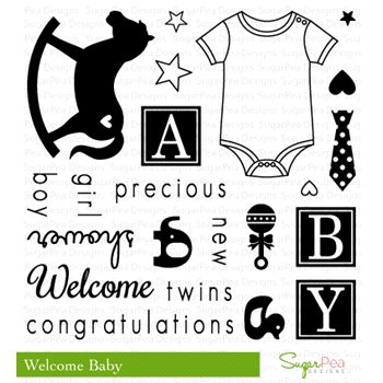 SugarPea Designs WELCOME BABY Clear Stamp Set SPD00124