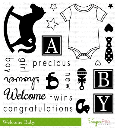 SugarPea Designs WELCOME BABY Clear Stamp Set SPD00124 zoom image