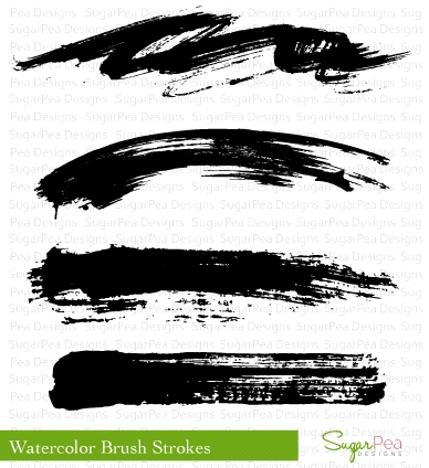 SugarPea Designs WATERCOLOR BRUSH STROKES Clear Stamp Set SPD00123 zoom image