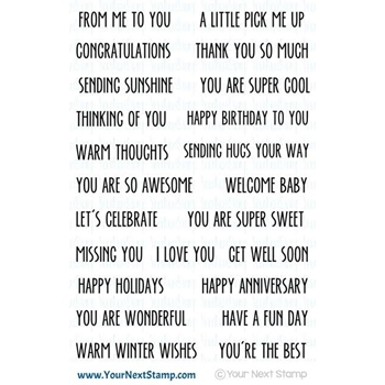 Your Next Stamp COOL TAG BANNER SENTIMENTS Clear CYNS426