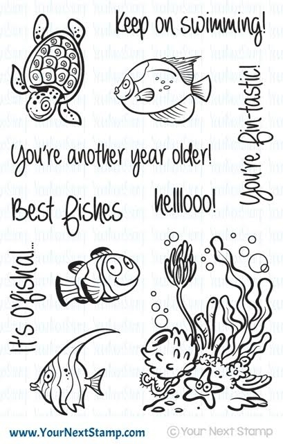 Your Next Stamp FISHY FUN Clear CYNS393* zoom image