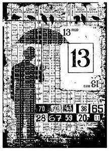 Tim Holtz Rubber Stamp OPTIMIST COLLAGE Stampers Anonymous P4-1326