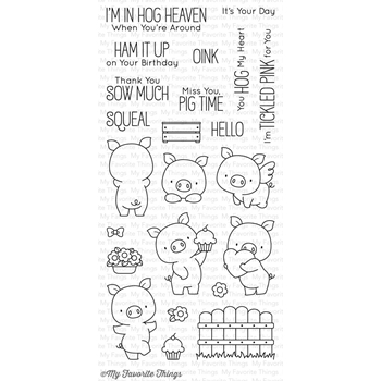 My Favorite Things HOG HEAVEN Clear Stamps BB35