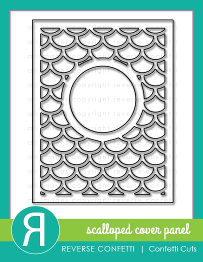 Reverse Confetti Cuts SCALLOPED COVER PANEL DIE Set  zoom image