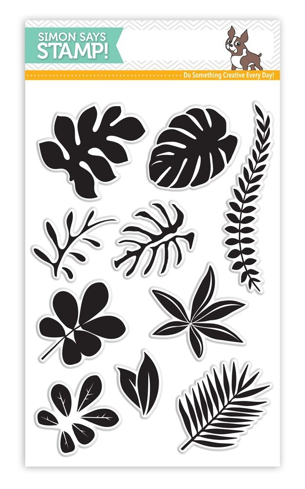 Simon Says Clear Stamps TROPICAL LEAVES SSS101620 Among The Stars * zoom image