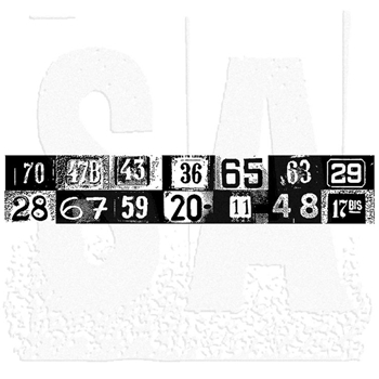 Tim Holtz Rubber Stamp HOUSE NUMBERS Stampers Anonymous K6-1330