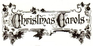 Tim Holtz Rubber Stamp CHRISTMAS CAROLS Stampers Anonymous P2-1337 zoom image