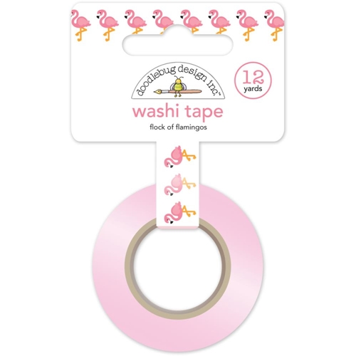 Doodlebug FLOCK OF FLAMINGOS Fun In The Sun Washi Tape 5213 Preview Image