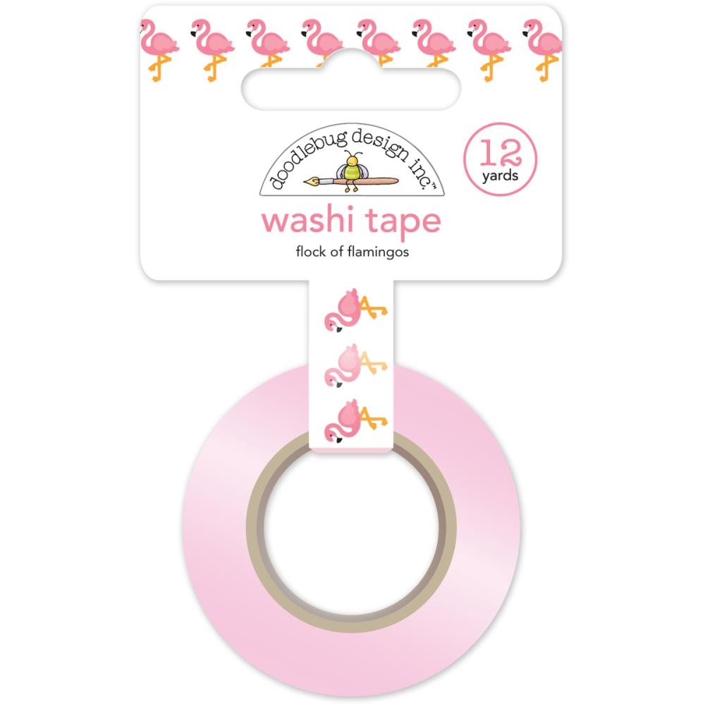 Doodlebug FLOCK OF FLAMINGOS Fun In The Sun Washi Tape 5213 zoom image
