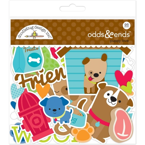 Doodlebug PUPPY LOVE Odds and Ends Die Cuts 5245 Preview Image