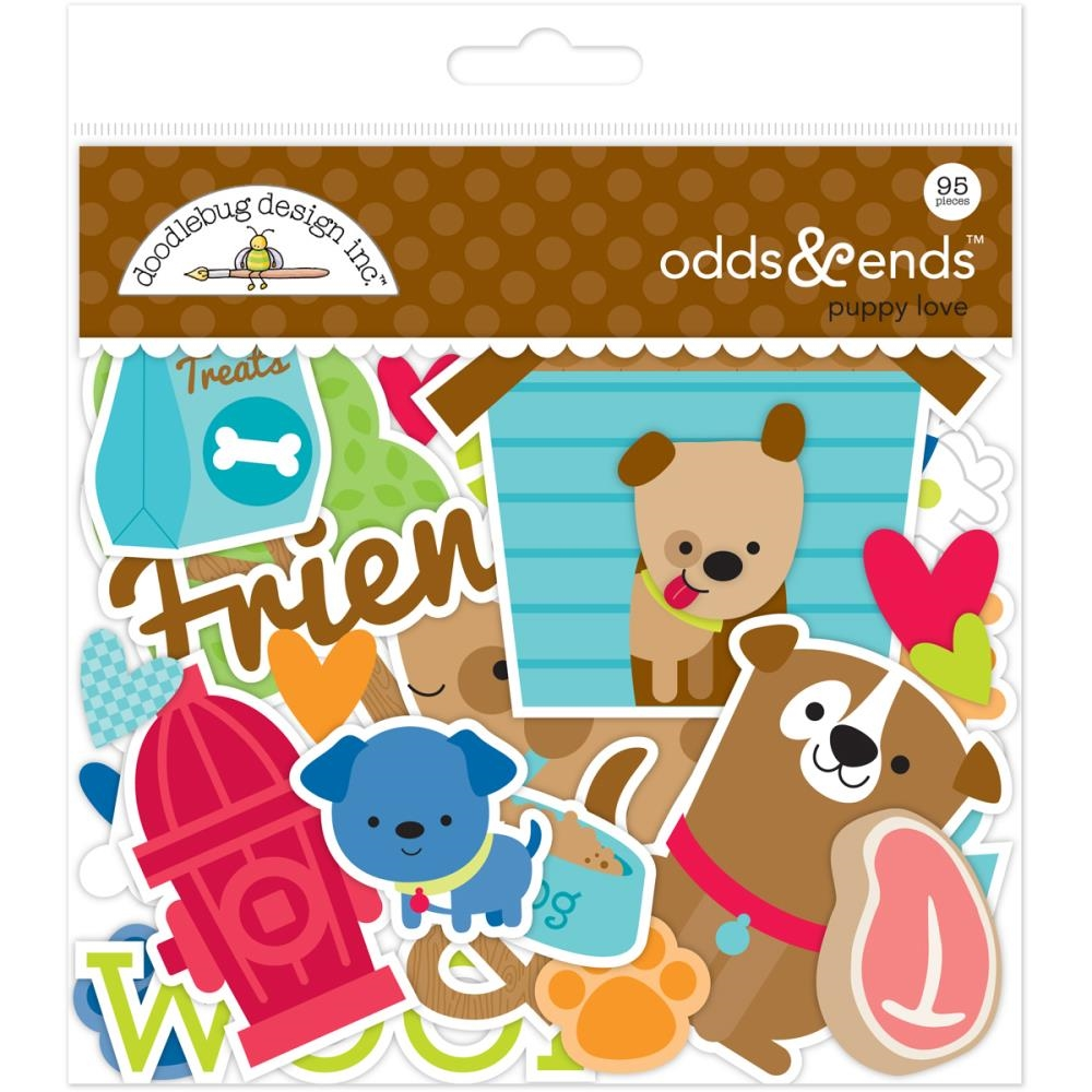 Doodlebug PUPPY LOVE Odds and Ends Die Cuts 5245 zoom image