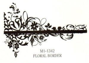 Tim Holtz Rubber Stamp FLORAL BORDER Stampers Anonymous M1-1342