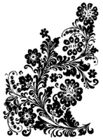 Tim Holtz Rubber Stamp LEATHER FLORAL Stampers Anonymous M1-1343
