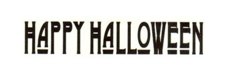Tim Holtz Rubber Stamp HAPPY HALLOWEEN Stampers Anonymous G3-1345 zoom image