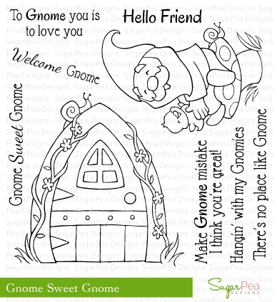 SugarPea Designs GNOME SWEET GNOME Clear Stamp Set SPD00043 Preview Image