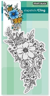 Penny Black Cling Stamp FLOWER CASCADE 40-466 zoom image