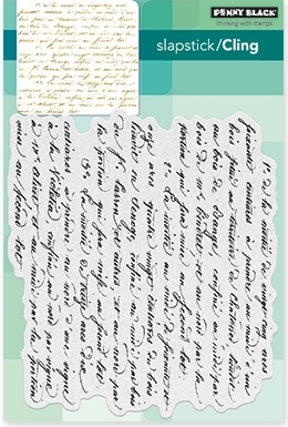 Penny Black Cling Stamp SCRIPT 40-470 Preview Image