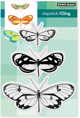 Penny Black Cling Stamp BUTTERFLY TRIO 40-473 zoom image