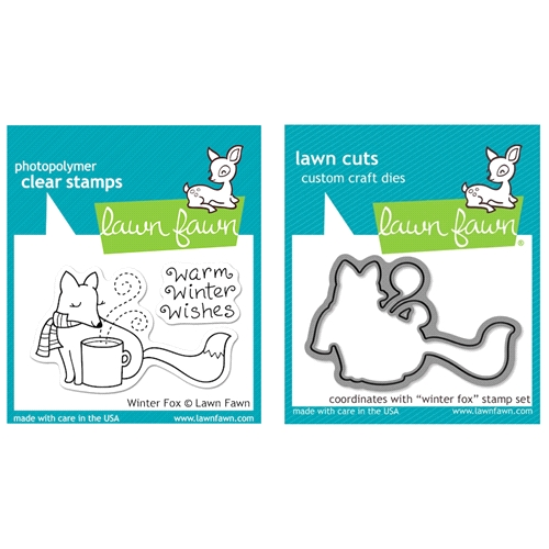 Lawn Fawn SET LFSETWF WINTER FOX Clear Stamps and Dies Preview Image