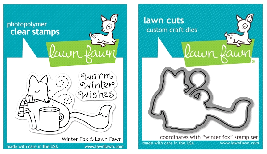 Lawn Fawn SET LFSETWF WINTER FOX Clear Stamps and Dies zoom image