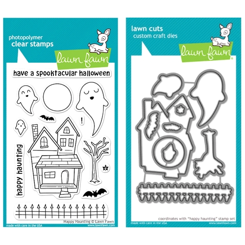 Lawn Fawn SET LFSETHH HAPPY HAUNTING Clear Stamps and Dies Preview Image