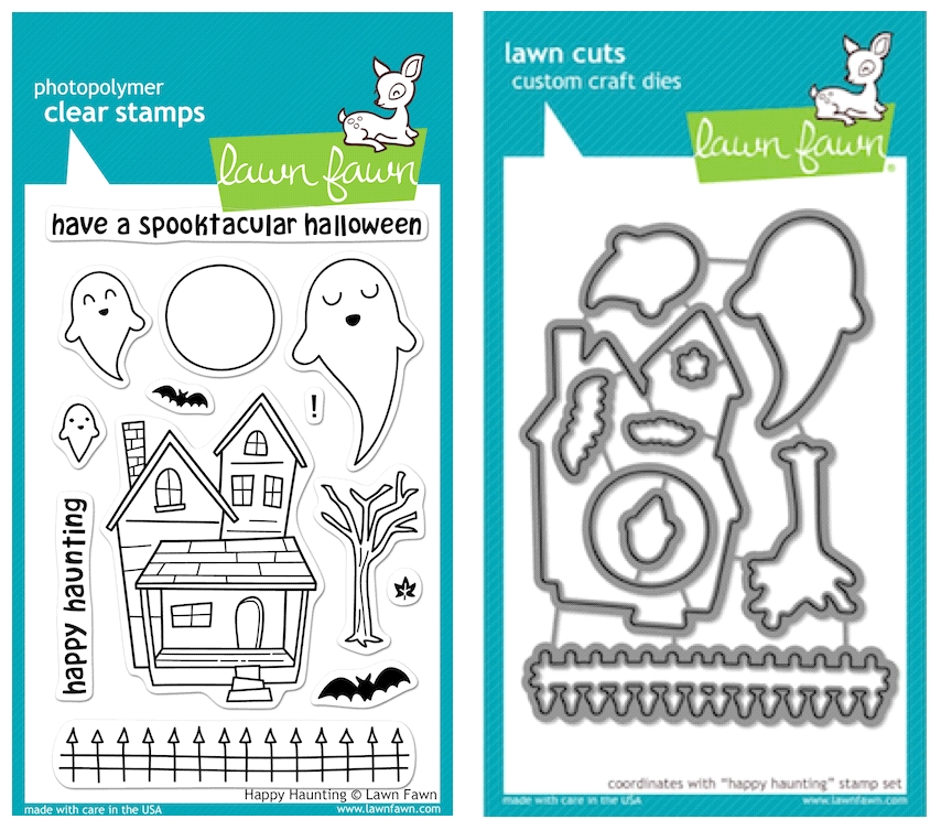 Lawn Fawn SET LFSETHH HAPPY HAUNTING Clear Stamps and Dies zoom image