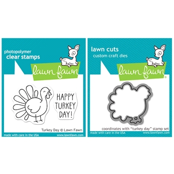 Lawn Fawn SET LFSETTD TURKEY DAY Clear Stamps and Dies
