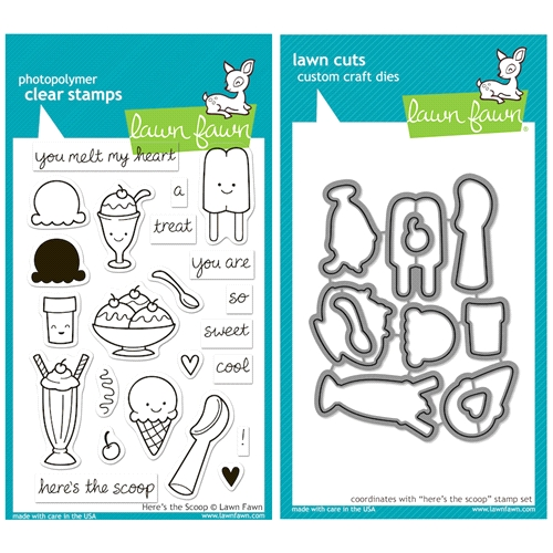 Lawn Fawn SET LFSETHTS HERE'S THE SCOOP Clear Stamps and Dies Preview Image