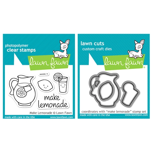 Lawn Fawn SET LFSETML MAKE LEMONADE Clear Stamps and Dies Preview Image