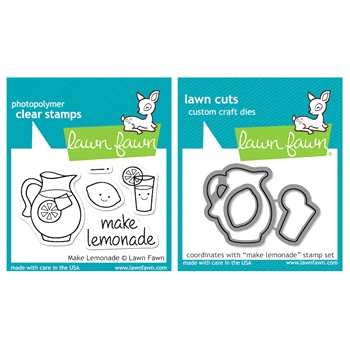 Lawn Fawn SET LFSETML MAKE LEMONADE Clear Stamps and Dies
