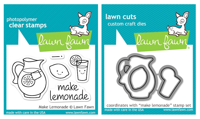 Lawn Fawn SET LFSETML MAKE LEMONADE Clear Stamps and Dies zoom image