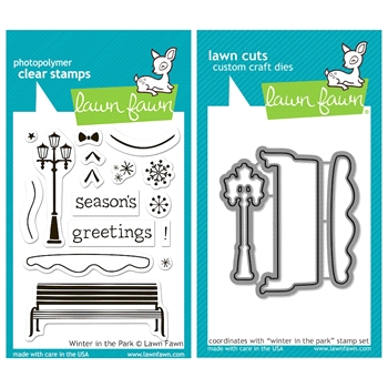Lawn Fawn SET LFSETWITP WINTER IN THE PARK Clear Stamps and Dies