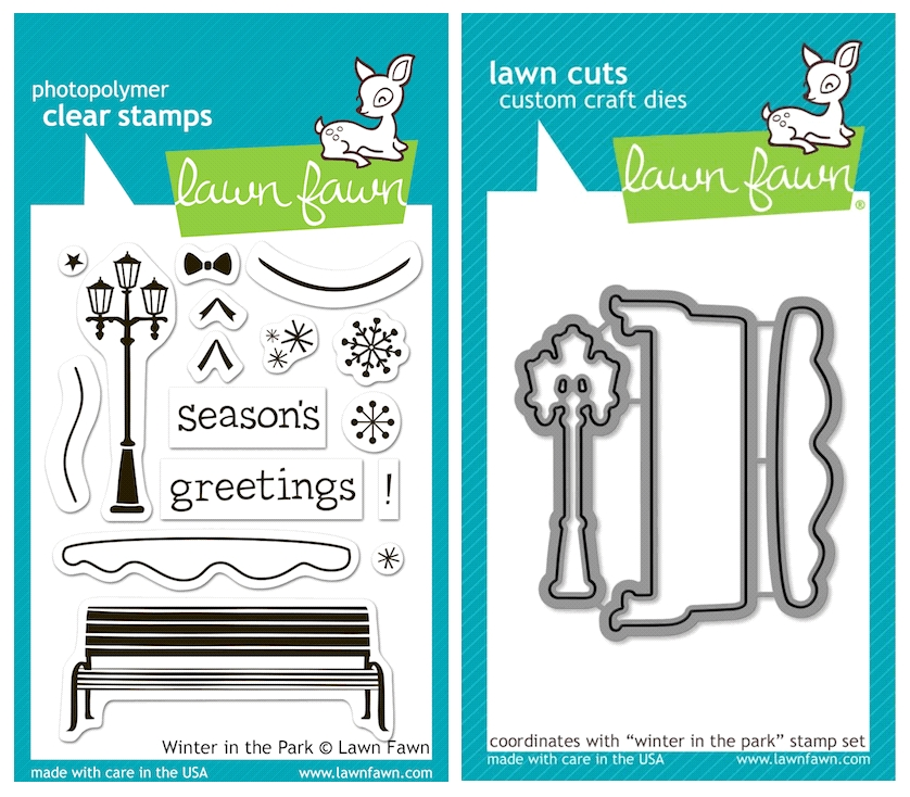 Lawn Fawn SET LFSETWITP WINTER IN THE PARK Clear Stamps and Dies zoom image