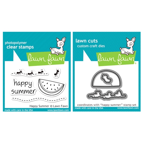 Lawn Fawn SET LFSETHS HAPPY SUMMER Clear Stamps and Dies Preview Image