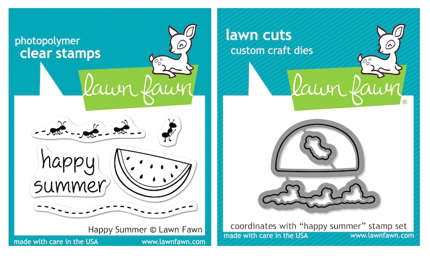 Lawn Fawn SET LFSETHS HAPPY SUMMER Clear Stamps and Dies zoom image