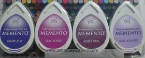 Memento JUICY PURPLES 4 Dew Drop Ink Pads MD-100-003