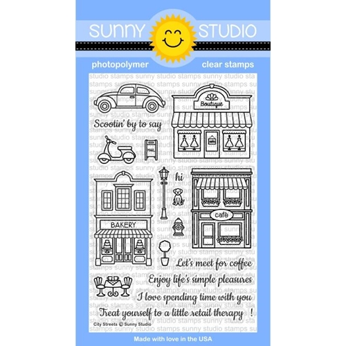 Sunny Studio CITY STREETS Clear Stamp Set SSCL-134 Preview Image