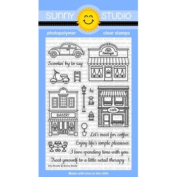 Sunny Studio CITY STREETS Clear Stamp Set SSCL-134