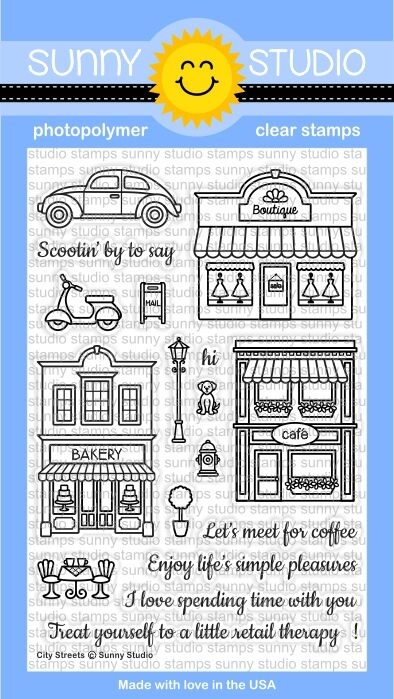 Sunny Studio CITY STREETS Clear Stamp Set SSCL-134 zoom image